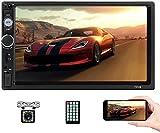 Autoradio Bluetooth - Autoradio Doppel Din mit 7 Zoll Touchscreen unterstützt...