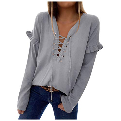 XUEbing Womens Pullover Lightweight Sweater Off Shoulder Knit Tops Casual Loose Blouse Shirt Colorblock Top Crewneck Gray