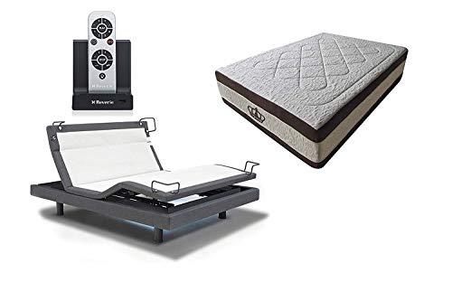 DynastyMattress 15.5-Inch AtlantisBreeze Gel Memory Foam Bed with Reverie 8Q Adjustable Base Set Sleep System (Twin XL)