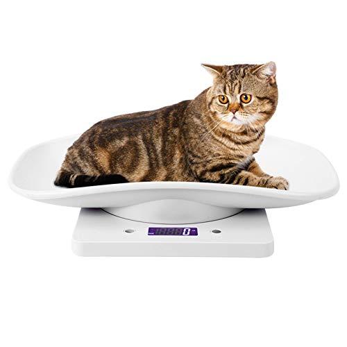 10kg/1g Petite Balance Numérique Smart Peser Confort Balance électronique pour Animaux de Compagnie avec Plateau de Hauteur Pour Chats Chiens Outil de Mesure Numérique Précis