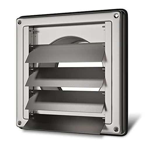 Außenhaube Abluft Lufthaube Lüftung Aussengitter Anschluss 100mm mit Beweglichen Luftklappen für Dunstabzugshaube Klimagerät oder Trockner