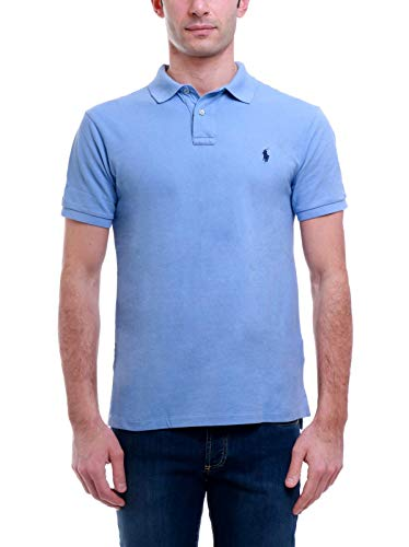 Photo of Polo Ralph Lauren Mod. 710795080 Polo Shirt Mesh Short Sleeves Slim Fit Man Blue M