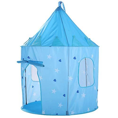 WNN-URG Tienda de Juegos for niños Tienda de Castillo Patrón de Estrella Azul portátil Plegable Interior al Aire Libre Playhouse Toy Outdoor Fun Sports URG (Color : Blue)