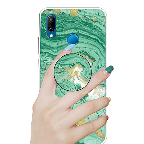 Review Nadoli Marble Case for Huawei P20 Lite,Premium Smooth Flexible Soft Colorful Marble Pattern U...
