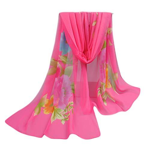 Damenmode große Sonnencreme-Tücher wickelt bedruckten Blumen-Schal, Rosa