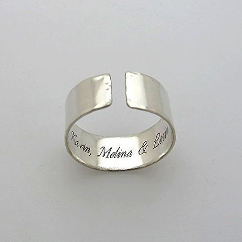 Custom Ring Personalized Name Ring Silver Ring Custom Engraved Ring Engraved Name Ring Name Ring