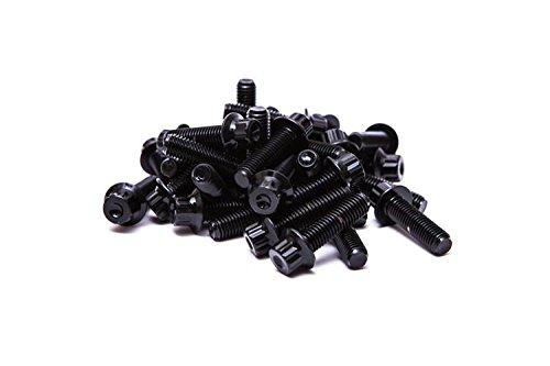 SRR Hardware Neo chrom Split Rand Schrauben M7/x 32/mm 10.9/HT Stahl f/ür BBS RS oz Rollen
