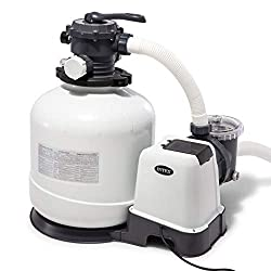 Pump flow Rate: 3000 GPH. System flow Rate: 2, 450 GPH 6 function control - enables pool owner to filter, backwash, rinse, recirculate, drain & close system 24 hour automatic timer The strainer basket provides easy-cleaning, and prolongs the life of ...