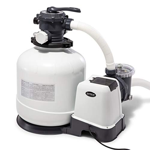 Intex 26651EG 3000 Gph Krystal Clear Sand Filter Pump, 16 in, Light Gray