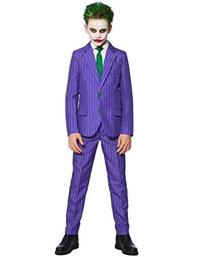 Generique - Mr. Joker Suitmeister-Kostüm für Kinder lila-grün-schwarz 98/104 (4-6 Jahre)