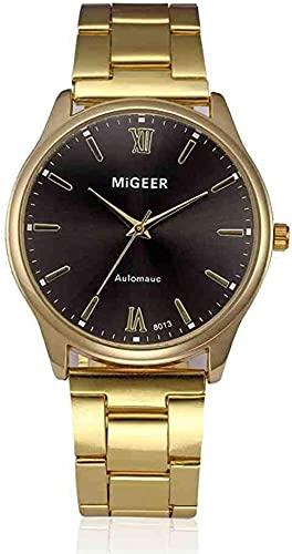 Mano Reloj Reloj de pulsera moda hombre cristal acero inoxidable reloj de pulsera de cuarzo de lujo reloj de lujo reloj reloj de muñeca relojes masculinos Relojes Decorativos Casuales ( Color : D )