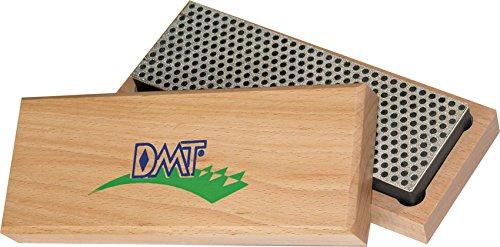 DMT W6X DTM, Diamond Whetstone, Messerschärfer, Schleifstein, Diamantenschärfstein, extra grobe Körnung Diamant-Schärfstein– extragrob mit Hartholzbox, 15.2cm / 6