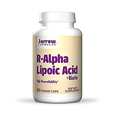 Jarrow R-Alpha Lipoic Acid with Biotin (100mg, 60 Capsules)