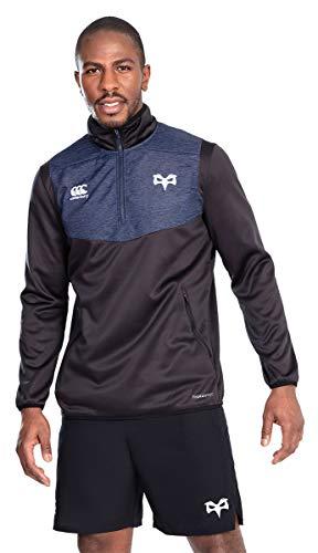 Canterbury Ospreys Herren Rugby-Top ThermoReg, Quarter Reißverschluss, Größe XL