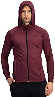 Sweatshirts for Men Zip Up Hoodie - Dry Fit Full Zip Jacket, French Terry Fabric