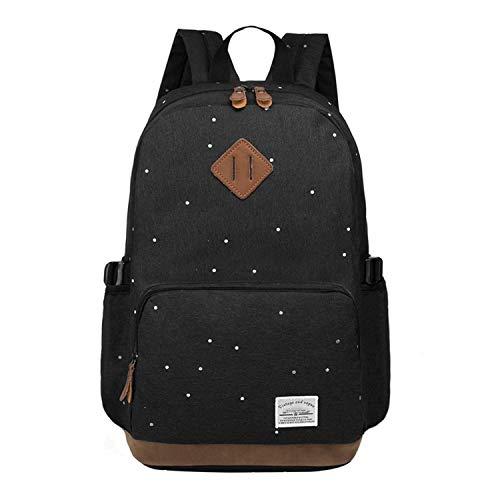 HFY Mujer Mochila Impermeable, Mochila para portátil Multiusos Daypacks 15.6 Pulgadas, para Negocio,Viaje,Escuela,Hombre Mujer Trabajo Diario (Negro)