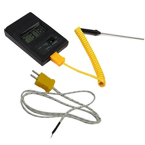 Termometro Hoosiwee, temperatura igrometro esterno LCD digitale, misuratore di umidità, allarme stazione meteorologica