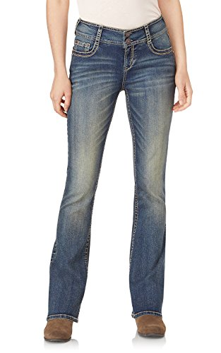 WallFlower Women's Instastretch Luscious Curvy Bootcut Jeans, Basil, 11 Short