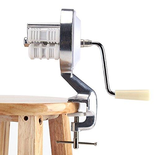 Machine à Pâtes Manuelle, Machine de Presse à Nouilles en Alliage D'aluminium, Machine de Presse à Gnocchi Fettucini Spaghetti Macaroni, équipement de Fabrication D'aliments pour la Cuisine