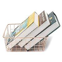 家族組織、家庭用ローズゴールドバスケット銅線収納箱のための現代装飾の設計