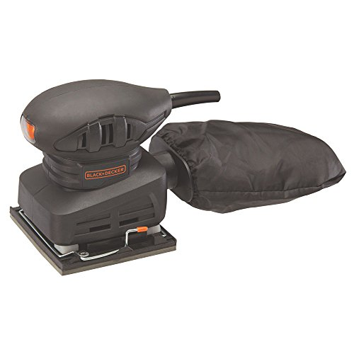 BLACK+DECKER Electric Sander, 1/4 Sheet, 1.5-Amp (BDEQS15C)
