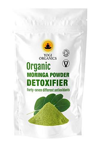 Polvo orgánico de Moringa Oleifera - Puro y crudo - Certifi