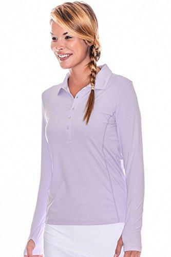 BloqUV Women's Collared Shirt, Small, Lavender