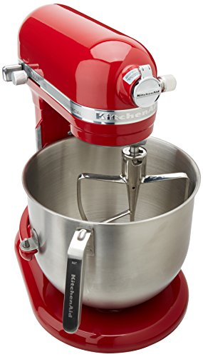 KitchenAid KSM8990ER 8-Quart Commercial Countertop Mixer, 10-Speed, Gear-Driven, Empire Red