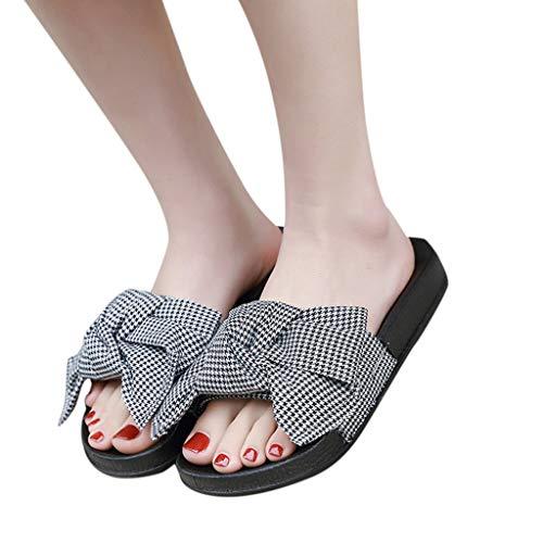 Fantastic Deal! Xinantime Womens Slipper Summer Bow Knot Slipper Flats Casual Home Slippers Beach Sh...