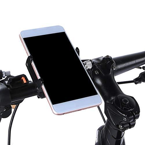 Alomejor Soporte para teléfono móvil para Bicicleta, Soporte de Montaje para Smatphone de aleación de Aluminio, Abrazadera de Cuna para teléfono Celular para Bicicleta, Bicicleta eléctrica