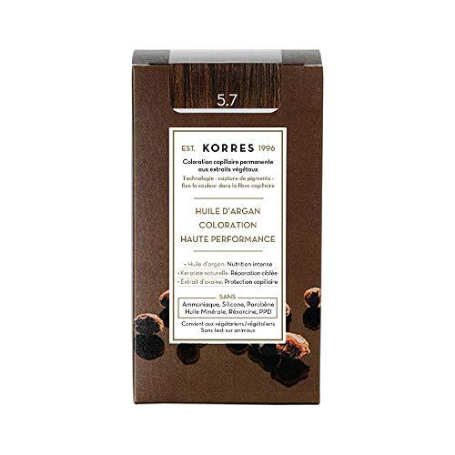 Korres ARGAN OIL ADVANCED COLORANT5,7 CHOCOLATE - 50ml + 75ml + 20ml