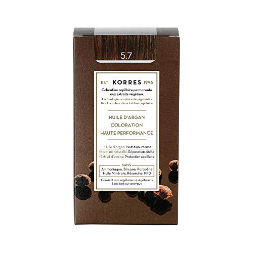 Korres ARGAN OIL ADVANCED COLORANT 5,7 CHOCOLATE - 50ml + 75ml + 20ml