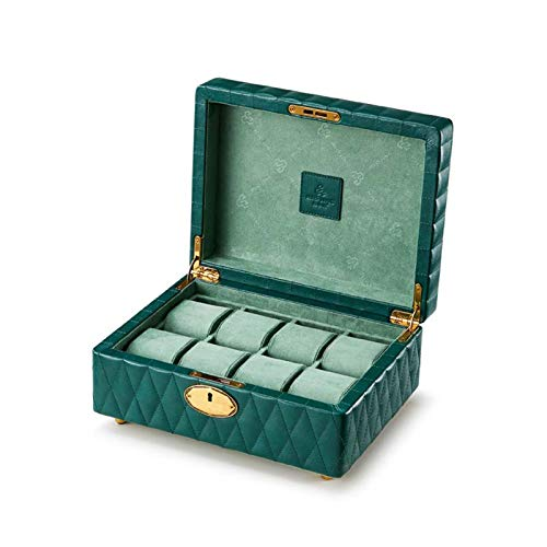 chun li zhang Caja Relojes-Caja para Relojes Caja De Reloj De 8 Ranuras Caja De Presentación De Reloj PU con Cerradura Reloj Desmontable Almohada Reloj para Hombre Reloj para Mujer