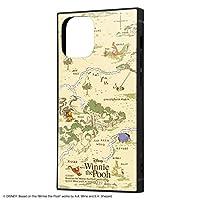 iPhone 12 mini 背面は割れにくいアクリル素材 ハイブリッド キャラクター スクエア ケース くまのプーさん 33