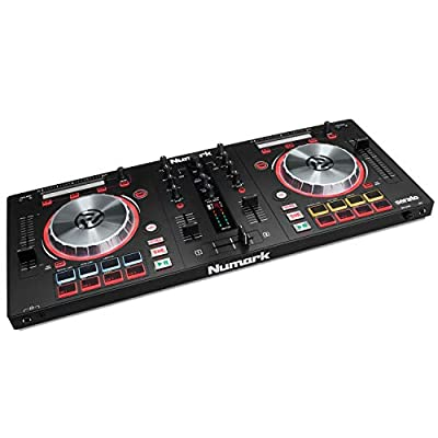 Numark Mixtrack Pro 3 - All-In-One 2-Deck DJ Controller for Serato DJ Including an On-board Audio Interface, 5-inch High Resolution Jog Wheels and Serato DJ Lite & Prime Loops Remix Tool Kit