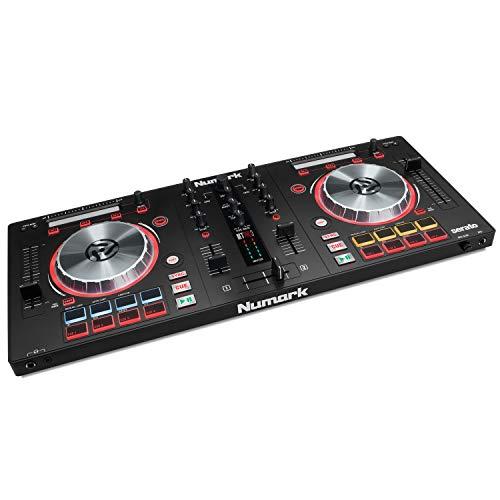 Numark Mixtrack Pro 3 - All-In-One 2-Deck DJ Controller für Serato DJ inklusive eines integrierten Audio Interfaces, hochauflösende 5-Zoll Jog Wheels und Serato DJ Lite und Prime Loops Remix Tool Kit