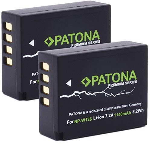 PATONA Premium (2X) Ersatz für Akku Fujifilm NP-W126 NP-W126s (echte 1140mAh neueste Generation)