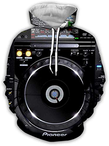 yyqx container 3D Sweatshirt Hoodie Dj Audio 3D Hoodies Unisex All-Over Gedrukt Grappige Lange Mouw Trui met Kangoeroe Pocket Hoody Sweat Sweatshirts