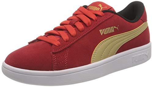 PUMA Smash v2 SD Jr, Zapatillas, Rojo (High Risk Red Team Gold Black), 37.5 EU
