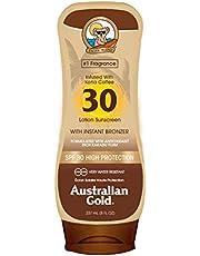 Australian Gold australische gouden spf 30 ondersteboven creme + bronzer 237 ml