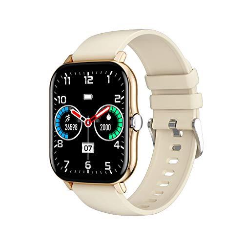 YNLRY Reloj inteligente para Amazfit Gts 2 1.7 pulgadas HD IPS pantalla GTS 2 DIY reloj cara IP68 impermeable 15 días de espera reloj inteligente hombres (color oro)