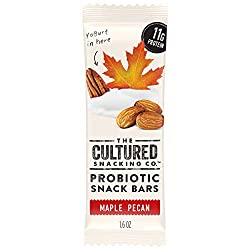 The Cultured Snacking Co. Probiotic Fridge-Ready Snack Bar, Maple Pecan, 11 Grams Protein, Gluten-Fr