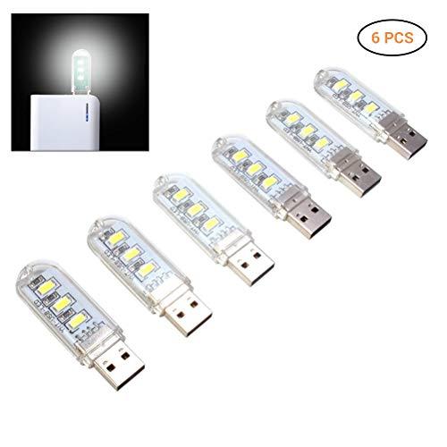 Yissma Mini LED USB-lamp, flexibel toetsenbord licht afneembare lampenkap, 3 gemengde LED USB licht voor laptop PC computer