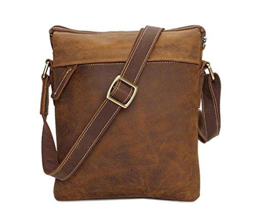 SHOUTIBAO Sacchetto di spalla di cuoio unisex/sacchetto di retro-croce/sacchetto vecchio/multifunzionale handmade, Shopping/viaggio/lavoro