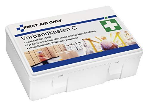 First Aid Only Verbandkasten C, DIN 13157, gemäß Arbeitsstätten-Richtlinien, weiß, P-10018