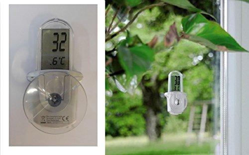 Thermometre thermomètre extérieur LCD avec ventouse -20°C à +50°C - 582