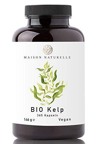 MAISON NATURELLE® - Bio Kelp Kapseln (365 Stück) - EINFÜHRUNGSANGEBOT - 200μg JOD je Kapsel - Kelp Braunalgen Kelp Vegan Jod Kelp Organic Kelp Kelpalge Jod Algen Kapseln