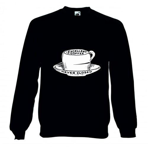 Druckerlebnis24 Sweatshirt Jahrgang- SCHWARZ UND WEIß- Zeichnung- VIKTORIANISCHEN- ALTMODISCHE- Skizze- Kaffee- Pokal- Trinken- Cafe- GETRÄNKE für Herren- Damen- Kinder