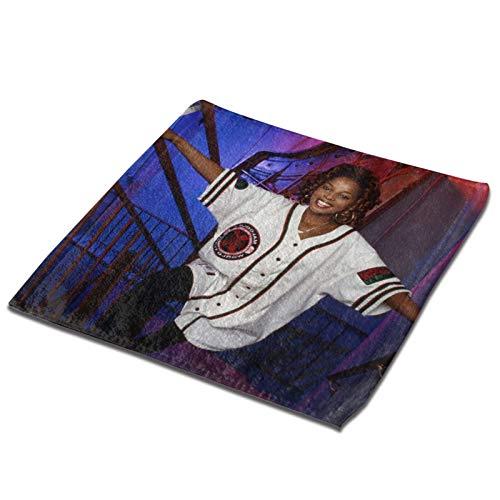 Yuanmeiju Toalla Cuadrada Mary J Blige Microfiber Square Towel, Soft and Skin Friendly Sports Towel, Face Towel, Hand Towel 13 X 13 Inches
