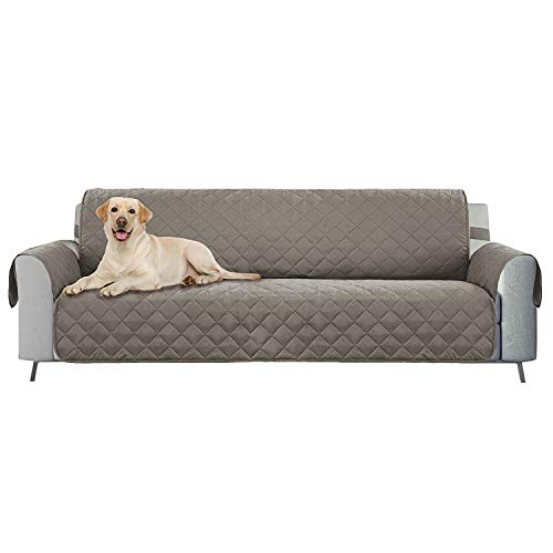 E-Living Store Z01674 Reversible Furniture Protector with 2 Inch Elastic Strap, Machine Washable, Perfect for Pet and Kids, Seat Width Up to 78', Oversized Sofa, Grey